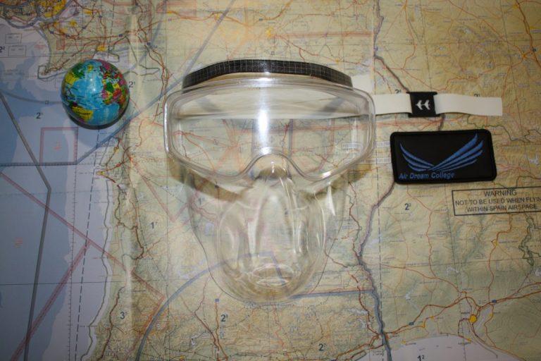 mascara de voo escola de aviação
