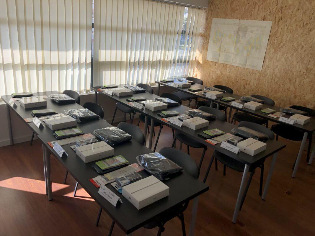 salas de aula escola de aviação